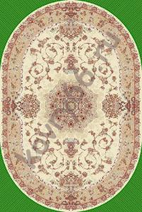 Ковёр ISFAHAN 2458 CREAM-ROSE 1.5*2.3 Овал